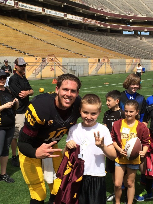 Bryan and ASU quarterback Taylor Kelly.